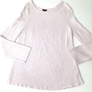 Ann Taylor Cotton Sweater Pink XL